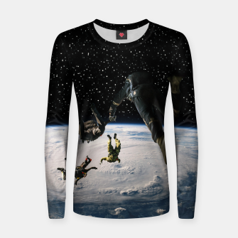 Thumbnail image of Forget oxygen Woman cotton sweater, Live Heroes