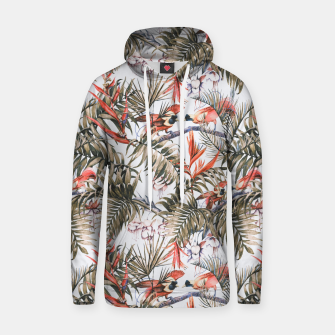 Thumbnail image of Exotic birds in the jungle paradise II Sudadera con capucha de algodón, Live Heroes