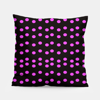 Thumbnail image of Pillow black pink dots wild, Live Heroes
