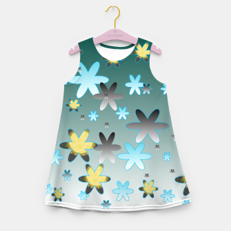 Miniatur Star Pattern Girl's summer dress, Live Heroes