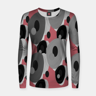 Thumbnail image of Woman cotton sweater with Circles brown, Live Heroes