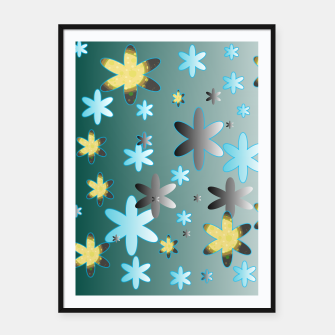 Miniatur Star Pattern Framed poster, Live Heroes