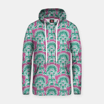 Miniatur  Ancient Mexican Myth Cotton hoodie, Live Heroes