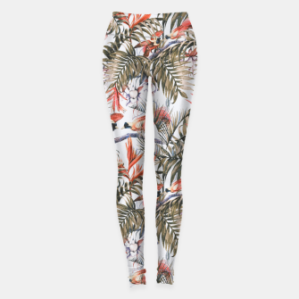 Miniaturka Exotic birds in the jungle paradise II Leggings, Live Heroes