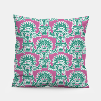 Miniatur  Ancient Mexican Myth Pillow, Live Heroes