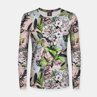 Thumbnail image of Flowering bouquet pink Sudadera de algodón para mujer, Live Heroes