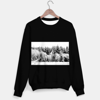 Miniatur Blank and white pine trees Sweater regular, Live Heroes
