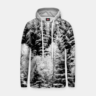 Miniaturka Blank and white pine trees Cotton hoodie, Live Heroes
