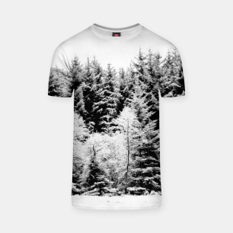 Miniatur Blank and white pine trees T-shirt, Live Heroes