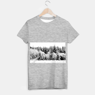 Miniaturka Blank and white pine trees T-shirt regular, Live Heroes