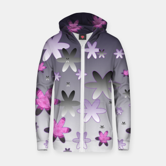 Thumbnail image of Violet Stars Cotton zip up hoodie, Live Heroes