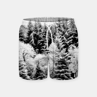 Miniaturka Blank and white pine trees Swim Shorts, Live Heroes
