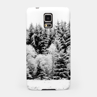 Miniatur Blank and white pine trees Samsung Case, Live Heroes