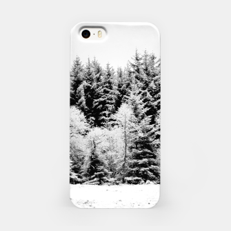 Miniaturka Blank and white pine trees iPhone Case, Live Heroes