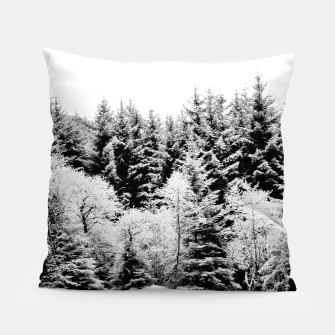 Miniatur Blank and white pine trees Pillow, Live Heroes