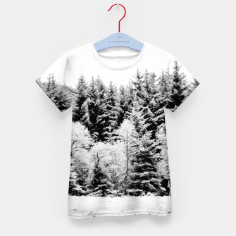 Miniaturka Blank and white pine trees Kid's t-shirt, Live Heroes