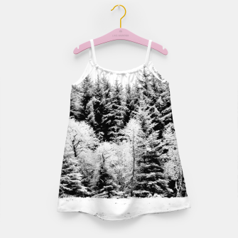 Miniaturka Blank and white pine trees Girl's dress, Live Heroes