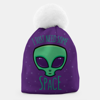 Miniatur I Just Need Some Space Alien Beanie, Live Heroes