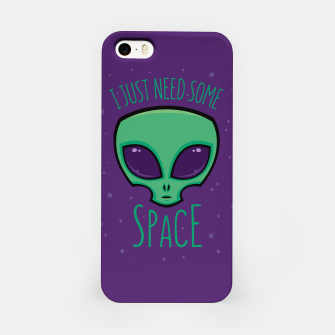 Thumbnail image of I Just Need Some Space Alien iPhone Case, Live Heroes