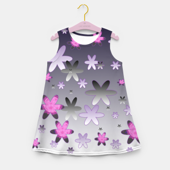 Miniatur Violet Stars Girl's summer dress, Live Heroes