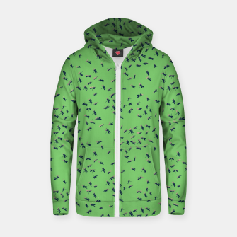 Thumbnail image of Dragonflies Cotton zip up hoodie, Live Heroes
