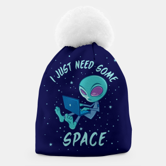 Miniatur I Just Need Some Space Alien with Laptop Beanie, Live Heroes