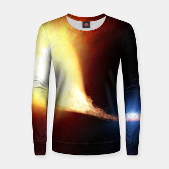 Miniaturka Explosive supernova Woman cotton sweater, Live Heroes