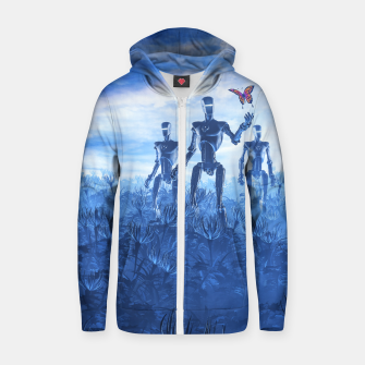 Thumbnail image of Tech Meets Nature Cotton zip up hoodie, Live Heroes