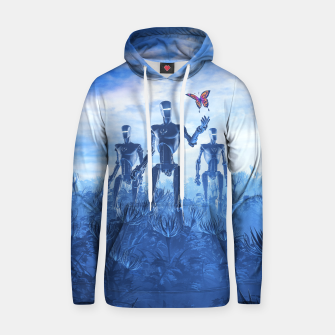 Tech Meets Nature Cotton hoodie thumbnail image