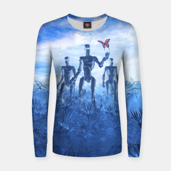 Miniatur Tech Meets Nature Woman cotton sweater, Live Heroes