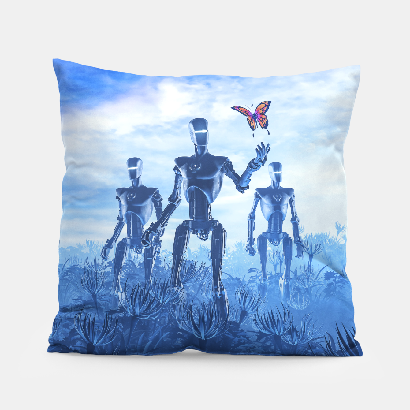 Image of Tech Meets Nature Pillow - Live Heroes