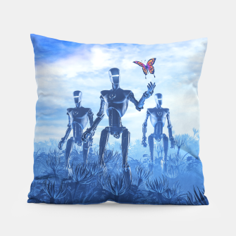 Miniatur Tech Meets Nature Pillow, Live Heroes