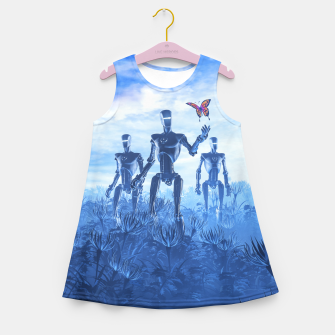 Miniatur Tech Meets Nature Girl's summer dress, Live Heroes