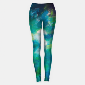 Thumbnail image of Blue Green Abstract Leggings, Live Heroes