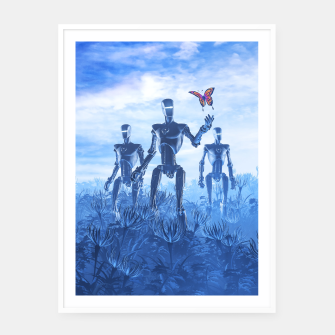 Thumbnail image of Tech Meets Nature Framed poster, Live Heroes