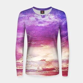 Thumbnail image of Sunset skies Woman cotton sweater, Live Heroes