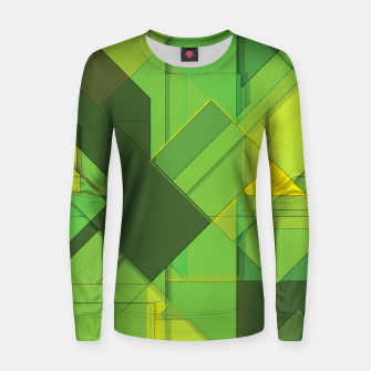 Thumbnail image of So Abstract, So Green Woman cotton sweater, Live Heroes