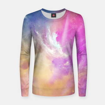 Thumbnail image of Galactic waves Woman cotton sweater, Live Heroes