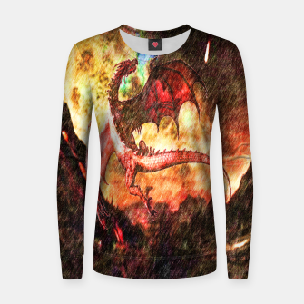 Thumbnail image of Dragon's fire Woman cotton sweater, Live Heroes