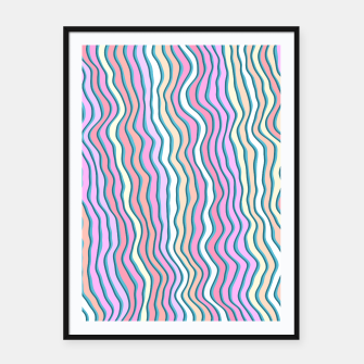Miniatur Noisy waves Framed poster, Live Heroes