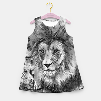 Miniatur AnimalArtBW_Lion_001_by_JAMFoto Girl's summer dress, Live Heroes