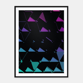Thumbnail image of 3D Futuristic GEO BG IV Framed poster, Live Heroes