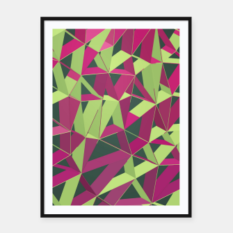 Thumbnail image of 3D Futuristic GEO Lines XLII Framed poster, Live Heroes