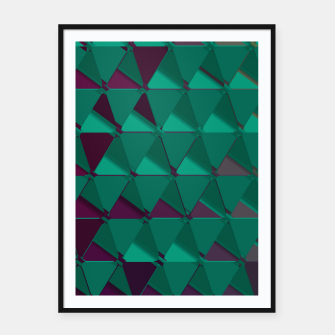 Thumbnail image of 3D Futuristic GEO BG III Framed poster, Live Heroes