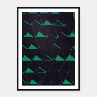 Thumbnail image of 3D Futuristic GEO BG VII Framed poster, Live Heroes