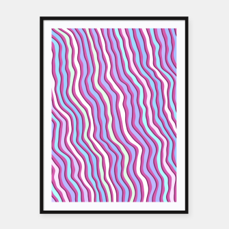 Miniatur Colorful stripes Framed poster, Live Heroes