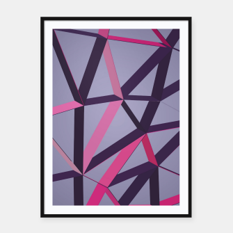 Thumbnail image of 3D Futuristic GEO Lines XXXVIII Framed poster, Live Heroes