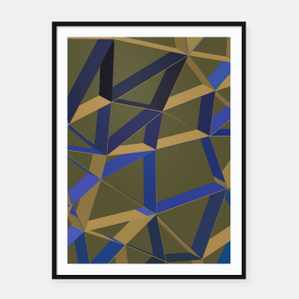 Thumbnail image of 3D Futuristic GEO Lines XLVIII Framed poster, Live Heroes