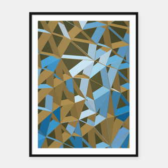 Thumbnail image of 3D Futuristic GEO Lines XXXVII Framed poster, Live Heroes
