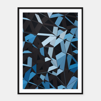Thumbnail image of 3D Futuristic GEO Lines XXXVI Framed poster, Live Heroes